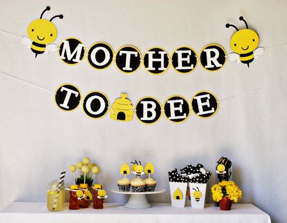 Mother to Bee -- A cute idea for a gender neutral baby shower: Bee Baby Showers, Baby Shower Ideas, Bumblebee, Shower Theme, Party Ideas, Babyshowerideas