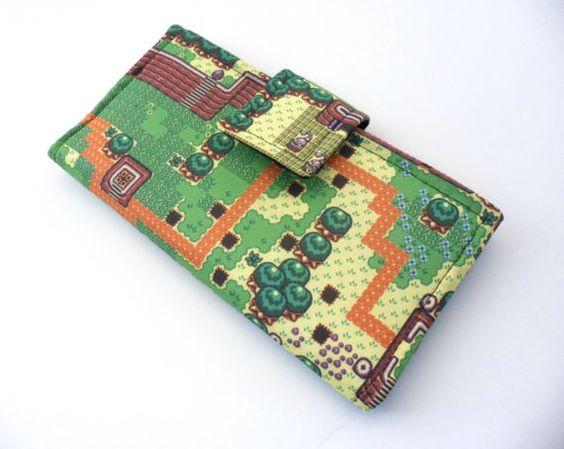 Vegan Video Game Fabric Clutch iPhone Wallet - 8 bit