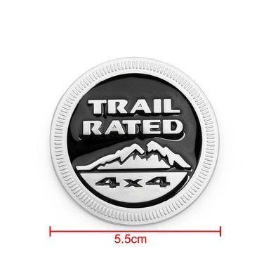 4x4 Emblem Badge Sticker Decal Trail Rated 4x4 Round Metal Jeep