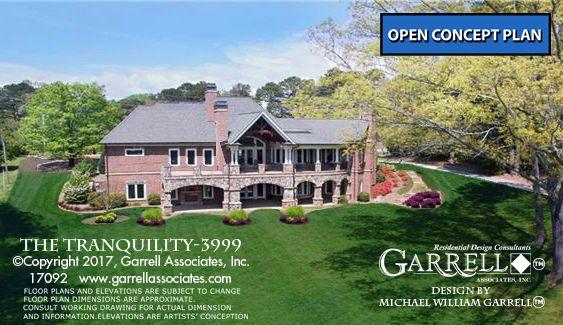 Tranquility 17092 3999 Garrell Associates Inc Southern House Plan Garage Floor Plans Lake House Plans