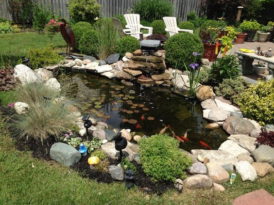 Small koi pond awesome koi fish pond for a small yard for Small koi fish