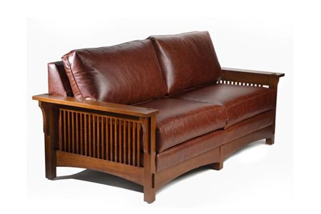 Mission Style Leather Sofa Would Love A Couple Of