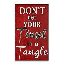 image of Tinsel Tangle Christmas Wall Plaque