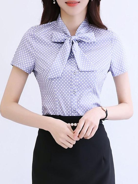 Specifications Product Name: Tie Collar Bowknot Polka Dot Blouse Collar&neckline: Tie Collar Sleeve: Long Sleeve Season: Autumn / Spring Package Included: Top / 1 Material: Polyester Embellishment: Bowknot Pattern Type: Polka Dot Occasion: Office Size chart as a reference: Waist Sleeve Shoulder Length Bust s Inchcm 2872 2257 1435 2460 3486 m Inchcm 3076 2358 1436 2461 3590 l Inchcm 3180 2359 1537 2462 3794 xl Inchcm 3384 2460 1538 2563 3998 2xl Inchcm 3588 2461 1539 2564 40102 All dimensions are