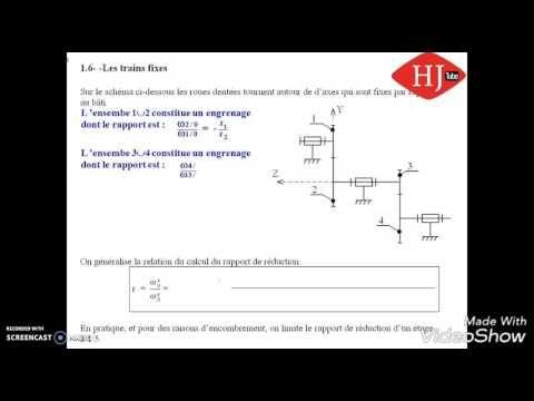Sciences D Ingenieur Bac Ste Maroc Tr Les Engrenages Partie 1 Youtube