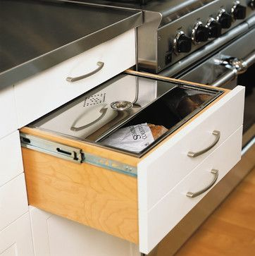 metal lined bread drawer