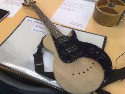 nice handmade guitar