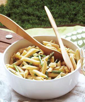 Asparagus and lemon pasta salad
