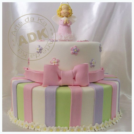 Pastel de bautizo nino y nina torta de bautizo para ni a - Decoracion para bautizo de nino y nina ...