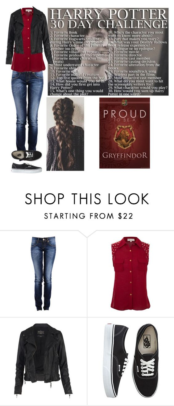 """""""Harry Potter 30 day challenge"""" by bubble-loves-you ❤ liked on Polyvore featuring Cameo Rose, AllSaints and Vans"""