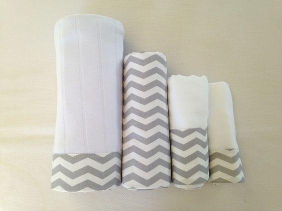 Kit maternidade contém uma manta de suedine duplo canelado (malha mais encorpada), um cueiro dupla face (um lado flanela e o outro tricoline) uma fralda de ombro e uma de boca. O material utilizado é 100% algodão para não causar alergias ao seu bebê. Dimensões: manta (95cm x 80cm), cueiro (80cm x 75cm) fralda de ombro (70cm x 70cm) e fralda de boca (32cm x 32cm).
