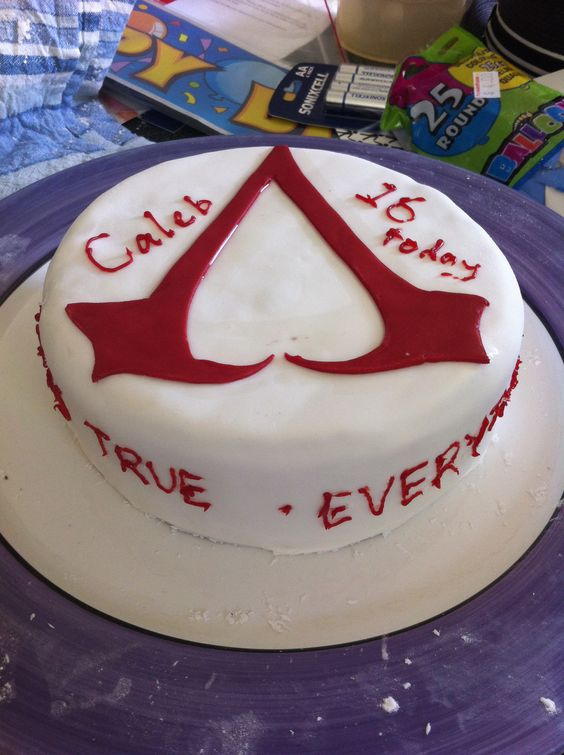 assassin 39 s creed birthday cake pinterest projects. Black Bedroom Furniture Sets. Home Design Ideas