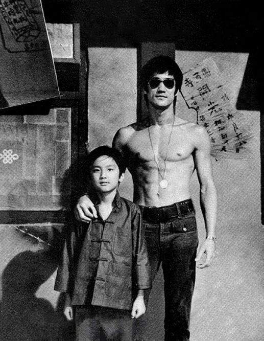 Bruce Lee with his son Brandon