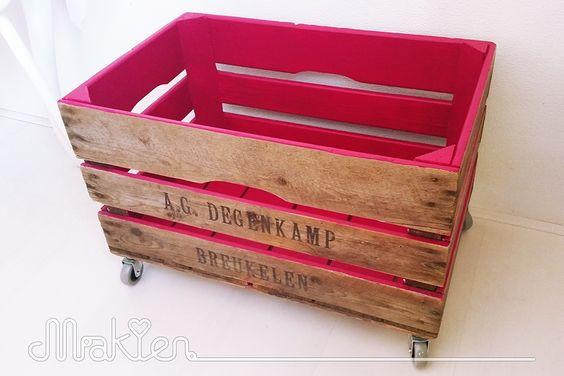 Diy fruitkist op wielen diy pinterest design interiors and dahlias - Maak pool container ...