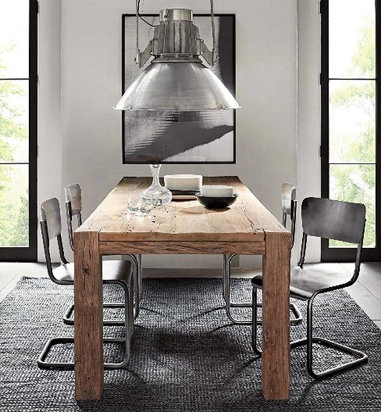 Oak Dining Table, Rustic Modern Furniture Gallery