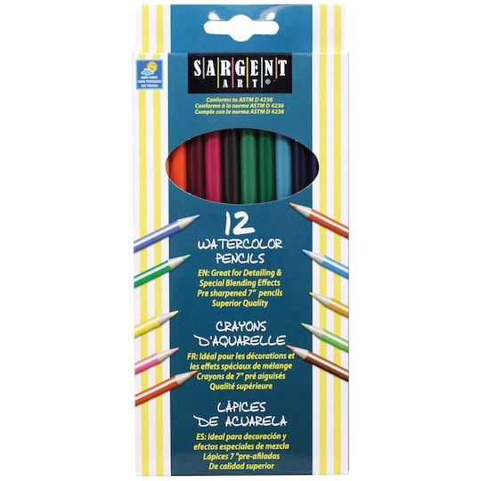 Sargent Art Watercolor Pencils 6 Pack Bundle Watercolor