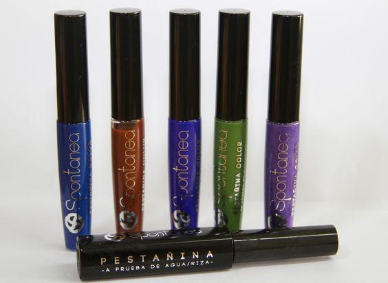 Spontanea tiene colores novedosos que realzan, iImpacta y embellece las pestañas.
