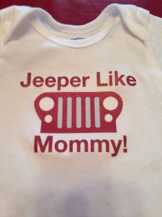 """Jeep short sleeve baby onsie. """"Jeeper like..."""" on Etsy, $18.99"""