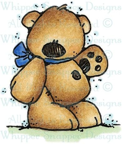 Lil' Standing Bear - Bears - Animals - Rubber Stamps - Shop