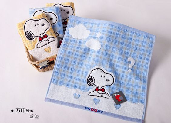 4pcs snoopy brand 100% cotton washcloths 34*35cm SN6049WH/4 #snoopy #Tropical