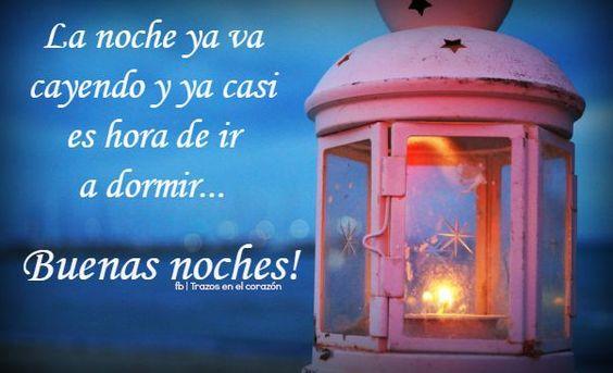 La noche ya va cayendo y ya casi es hora de ir a dormir...Buenas noches! @trazosenelcorazon