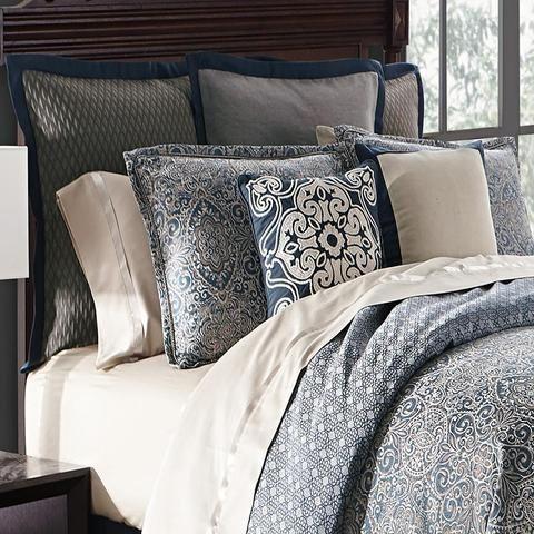Comforter Sets Asher Navy 4 Piece Reversible Comforter Set Latest Bedding Bed Linens Luxury Comforter Sets Bed