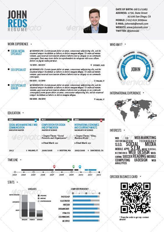 CREATIVE RESUME - Google 搜尋 brayan Pinterest - international experience resume