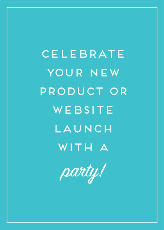 Celebrate your new site with a launch party! Launch party - business event invitation letter