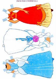 vestidos de princesas de papel