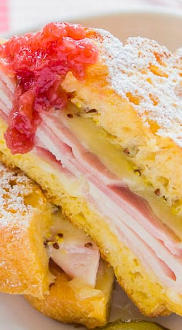 swiss with red currant jelly prosciutto apple and brie monte cristo ...