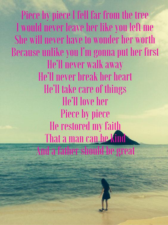 Piece by piece - Kelly Clarkson #hecares #sheisloved