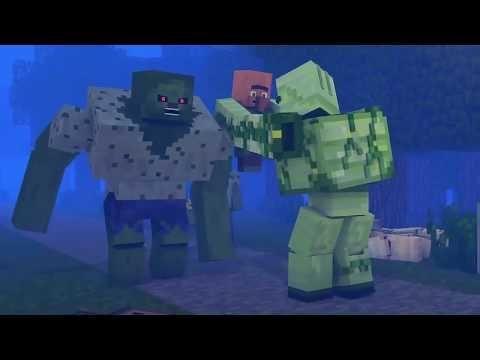 Zombie Vs Villager Life 12 Alien Being Minecraft Animation Animation Zombie Alien