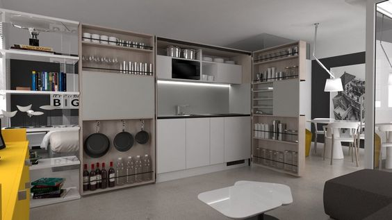 Mini cocina de madera maciza PIA wood by Dizzconcept by Inkea diseño Darko Špiljarić