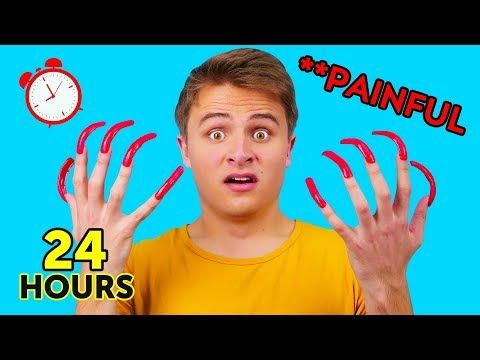 Wearing Long Acrylic Nails For 24 Hours Longest Nails Ever Funny Pranks By 123 Go Challenge Youtube Long Acrylic Nails Long Nails Funny Pranks