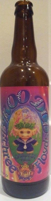 Cerveja Three Floyds Broo Doo, estilo India Pale Ale (IPA), produzida por Three Floyds Brewing Company, Estados Unidos. 7% ABV de álcool.