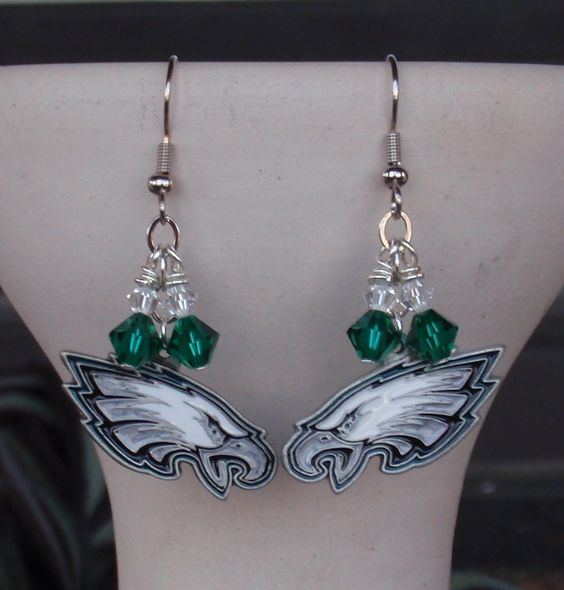 Philidelphia Eagles earrings...I would totally sport these!!!