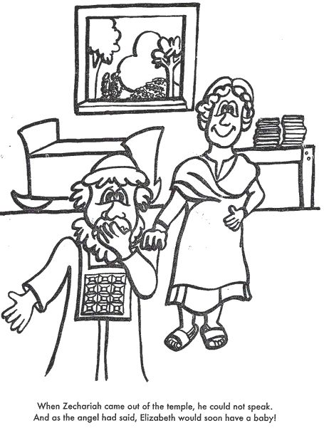 zechariah visions coloring pages - photo#6