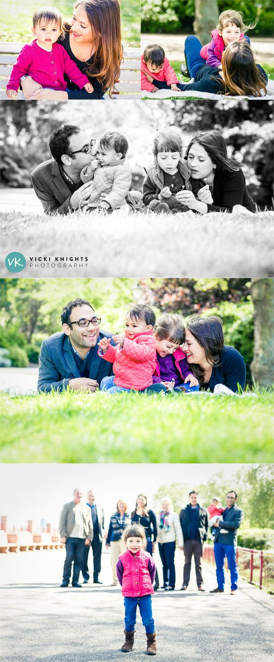 A big family photo shoot in a park - Vicki Knights Photography