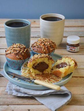 Muffins coeur de Nutella