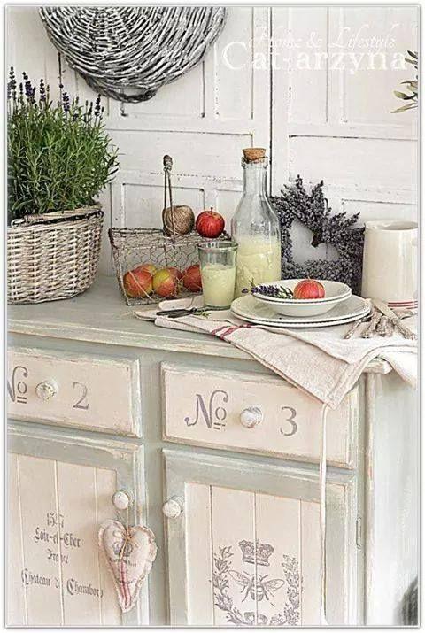 Gorgeous Shabby Chic Cabinet Kitchen