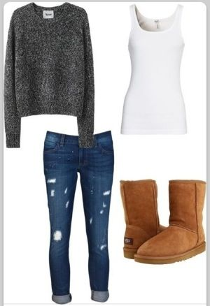 Cute and comfy : fall outfit /// not the boots. Use oxfords or army boots instead!: