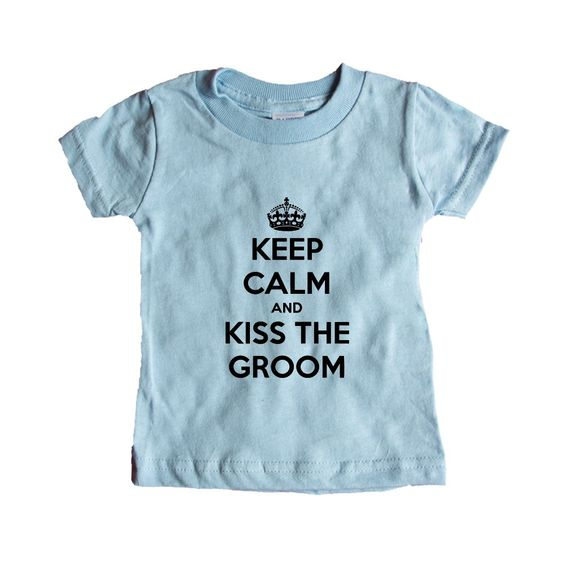 Keep Calm And Kiss The Groom Bride Engaged Wedding Wed Married Marriage Husband Wife Relationship Love Family SGAL7 Baby Onesie / Tee