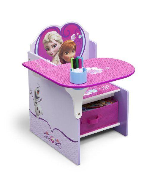 Children Disney Frozen Chair Desk with Storage