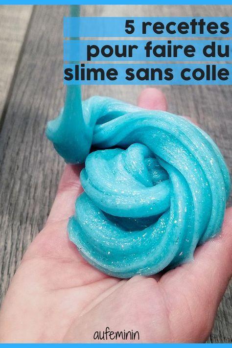 Comment Faire Du Slime Sans Colle Slime Sans Colle Comment Faire Du Slime Recette De Slime