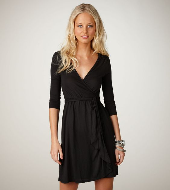 Love a wrap dress for after having a baby!! It hides all the extra until you lose it. ; )