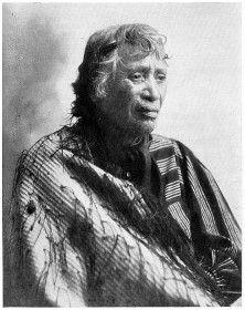 A singer of many tangi-chants. Hera Puna, widow of the Chief Hori Ngakapa, of the Ngati-Whanaunga and Ngati-Paoa tribes, Hauraki Gulf Coast.