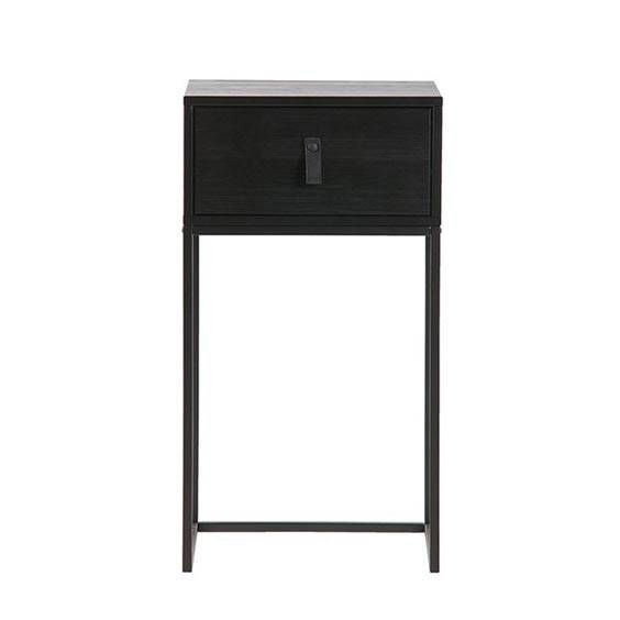 Black Small Bedside Nightstand 119 Simple Bedside Table Perfect For A Small Bedroom Widt Pine Bedside Table Small Black Bedside Table Black Bedside Table