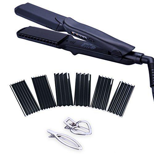 4 In 1 Hair Straightener Iron Set With Interchangeable Plates Tourmaline Ceramic Hair Crimper Wavy Iron Hair Hair Straightening Iron Hair Crimper Hair Tool Set