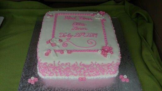 Baby girl baptism cake