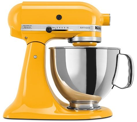 yellow Kitchenaid... yes, please!!